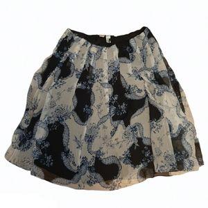 Jones New York Silk Floral Midi Skirt Size 18 W